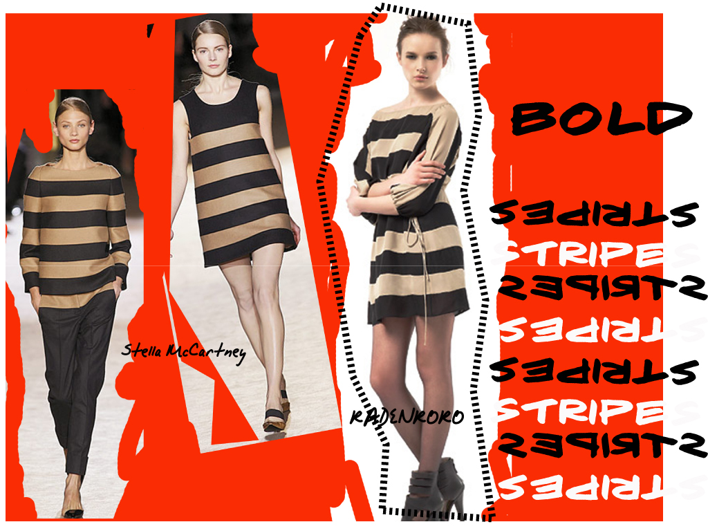 Audia Bold Stripe Dress from Fall 2010