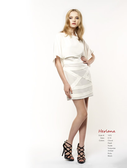 Herlana dress in cloud/ivory