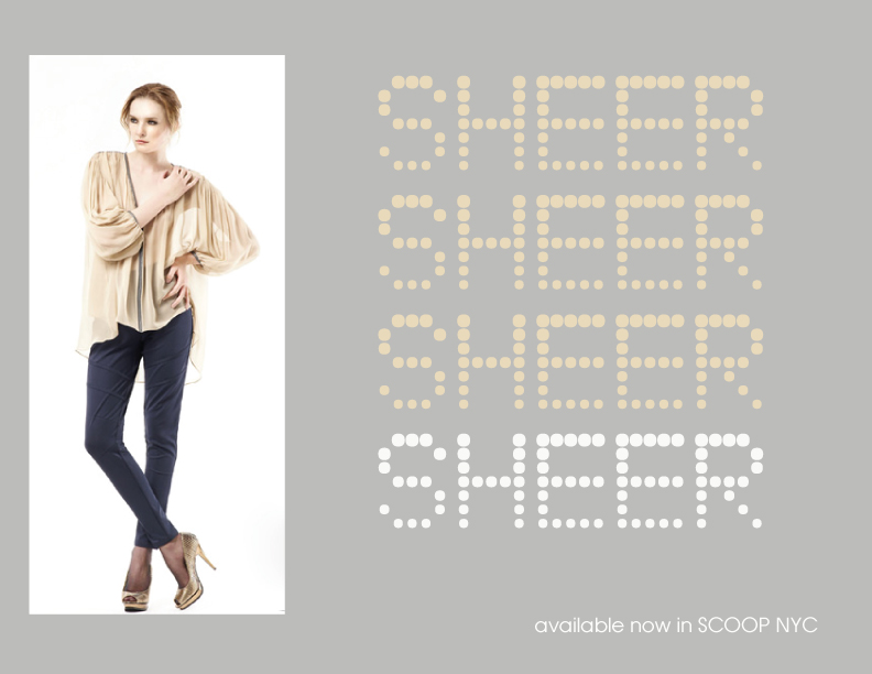 Pingkan sheer top with leather trim, available at SCOOP NYC