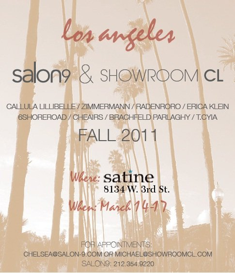 Contact Salon-9 Showroom to Schedule an Appointment!
