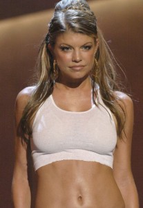 Fergie in a not-so-royal wifebeater
