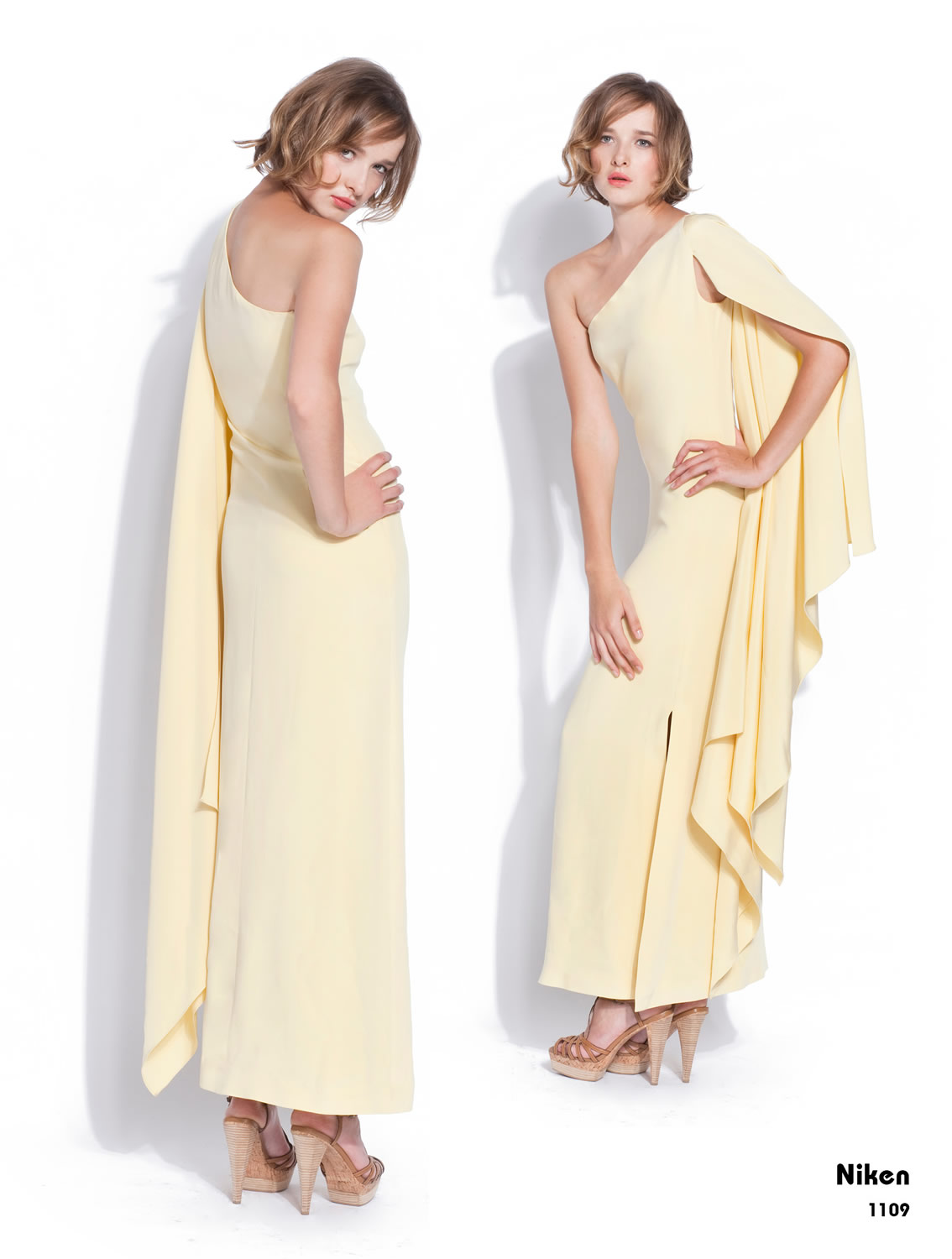 RADENRORO Niken dress is pale yellow