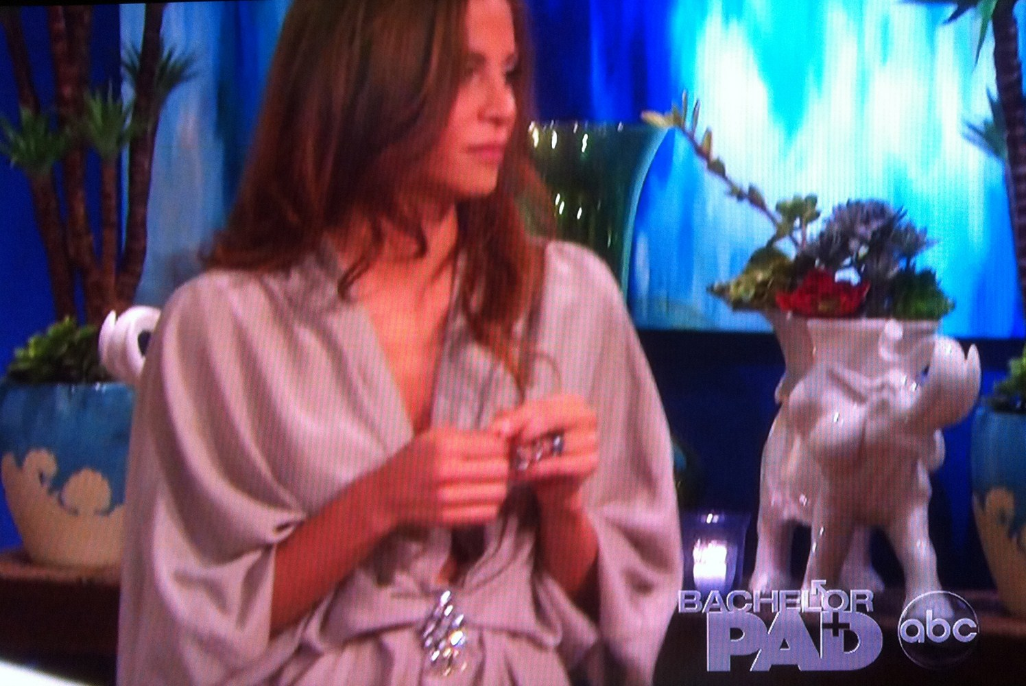 'The Bachelor Pad' Gia Allemand looks chic in Aria silk dress