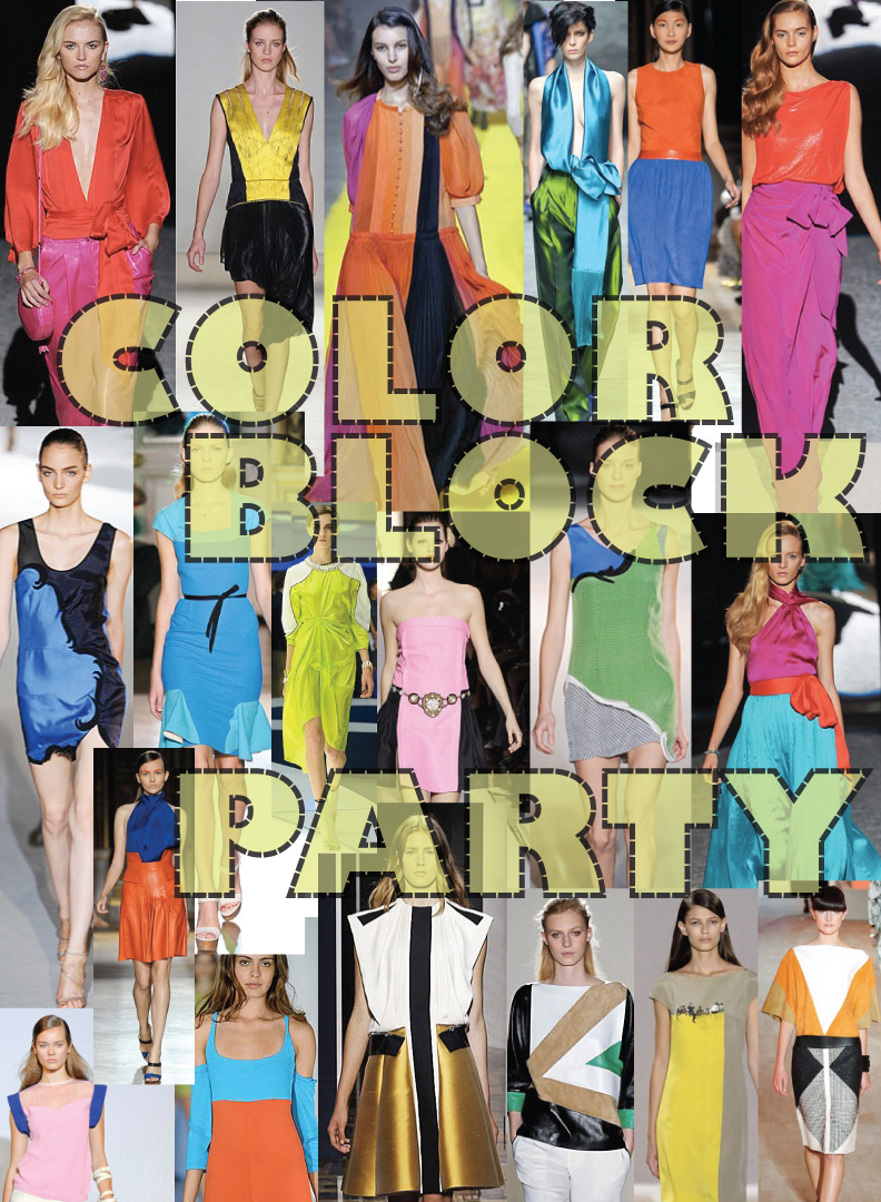 Color block party dress - Spring Summer 2012 Color Blocking Trend
