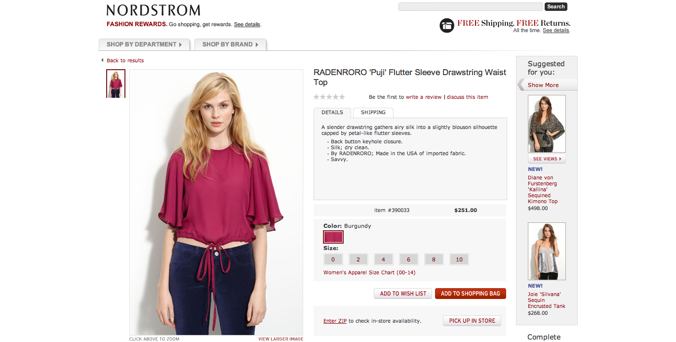 RADENRORO Puji Top at NORDSTROM
