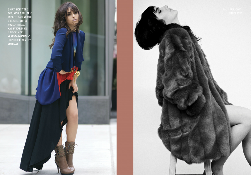 RADENRORO Yudia Jacket and Lestari Faux Fur Coat on KENTON Magazine