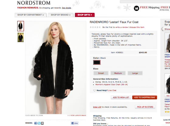 The Lestari faux fur coat on Nordstrom.com