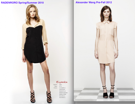 Radenroro silk shirt dress SS10 + Alexander Wang Pre-Fall 2012 T by Alexander Wang