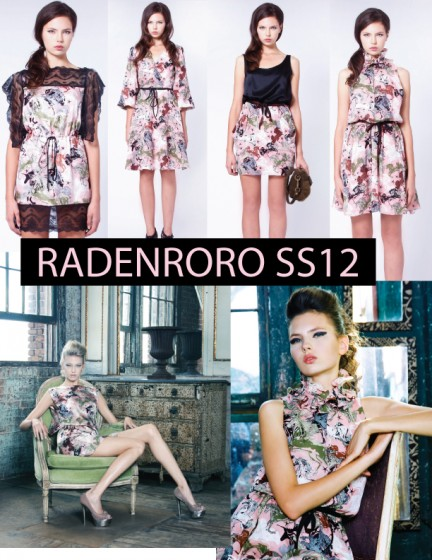 radenroro pink unicorn print dress