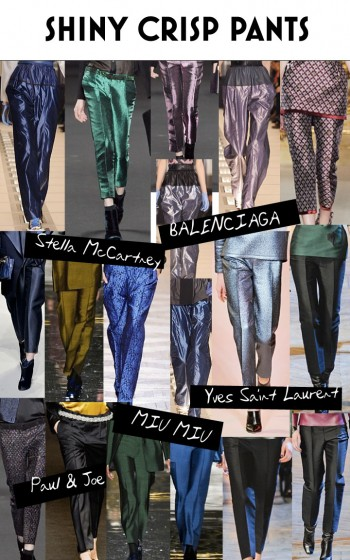 Fall - Winter 2012 Trend - Shiny Crop Pants