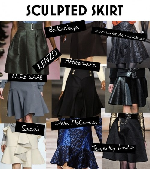 Fall - Winter 2012 Trend - Sculpted Skirt
