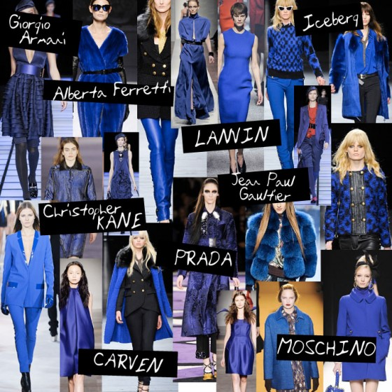 Fall Winter 2012 Trend Cobalt Blue