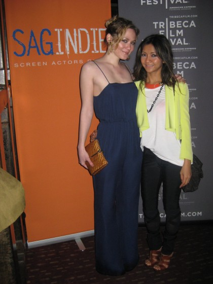 Louisa Krause and Liquica Anggraini in RADENRORO at Tribeca Film Festival 2012 'Double or Nothing' Screening