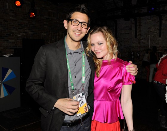 Nathaniel Krause with Louisa Krause 'Double or Nothing' Tribeca FIlm Festival 2012 short film - Bombay Sapphire Hosts Shorts Filmmaker Party At Tribeca Film Festival  2012
