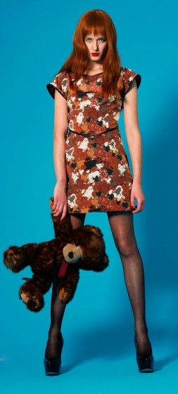 Radenroro Nonik dress in teddy bear