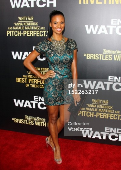 Candace Smith on the red carpet 'End of Watch' movie with Jake Gyllennhal