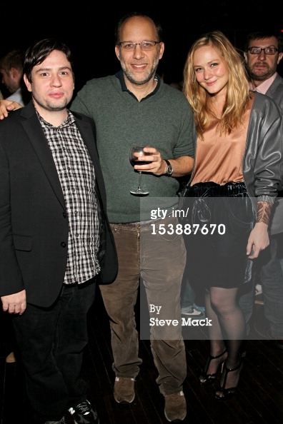 Louisa Krause with Jonathan Lisecki and Ira Sachs at 'Gayby' Premiere party at Crosby Street Hotel in New  York