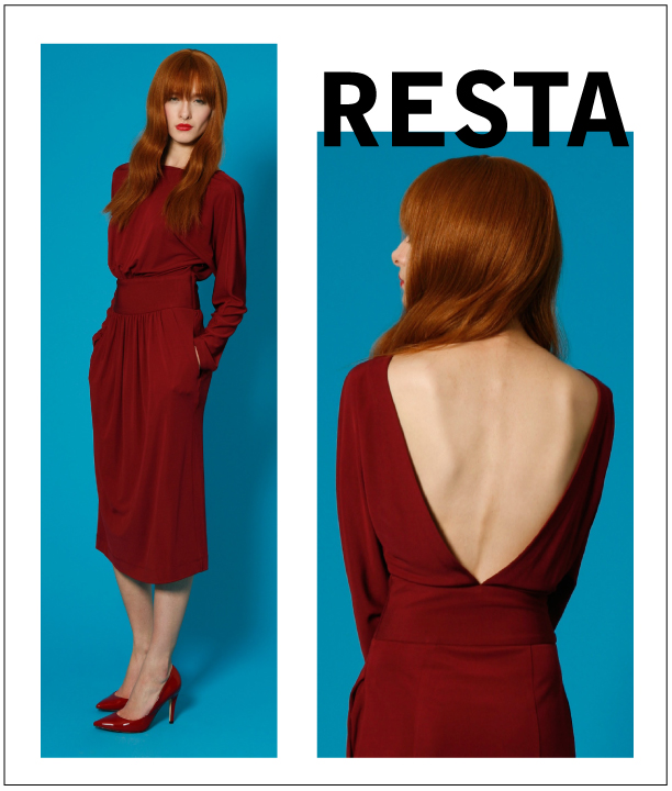 Radenroro chic Resta dress sexy deep V back