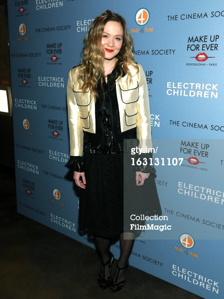 Louisa krause at Electrick Children premiere