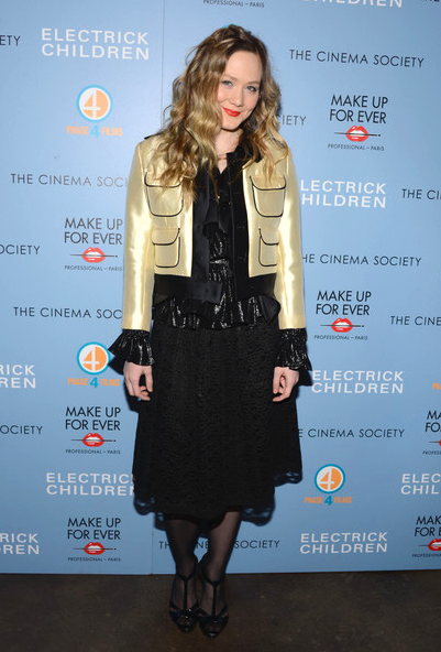Louisa Krause at Electrick Children NYC premiere