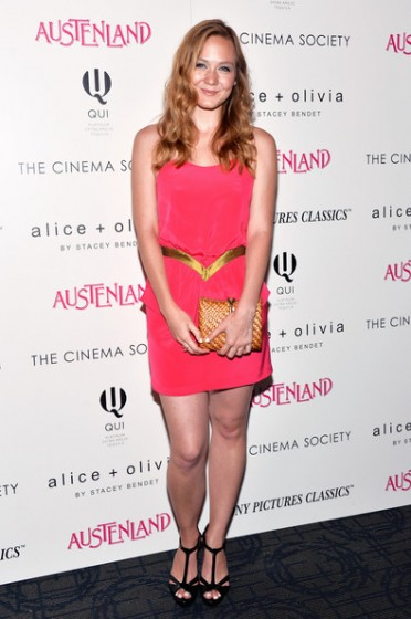 the cinema society sweetheart hot pink gold dress red carpet celebrity